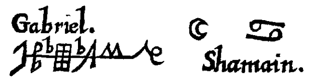 Signature of the Archangel gabriel